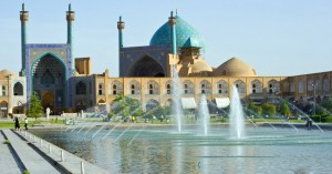 Shaw or Imam Mosque in Imam Square in Esfahan Iran